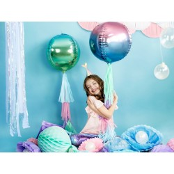 Metallic folie ballon Ombre Ball blauw en violet