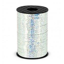Luxe krullint zilver glitter 5 mm breed en 225 meter lang
