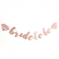 Banner Bride to Be Diamond rosé goud