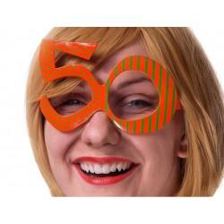 Bril 50 oranje