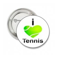 Button of sleutelhanger 'I Love Tennis'