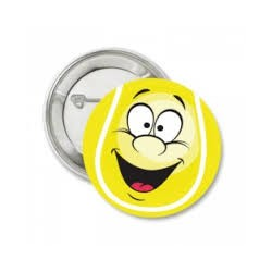 Button of sleutelhanger 'Smiley'