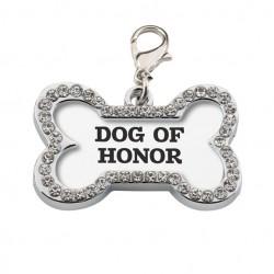 Bedel met de tekst Dog of Honour voor aan de riem van je hond