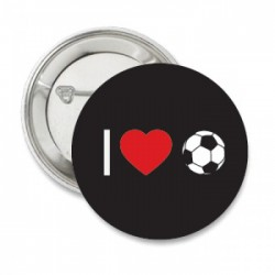 Button 'i love voetbal'