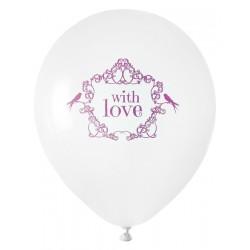 Zak met 8 ballonnen Vintage roze