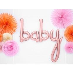 Folie ballon Baby in de kleur rosé goud
