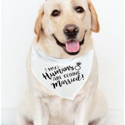 Honden bandana met de tekst My Humans are getting Married