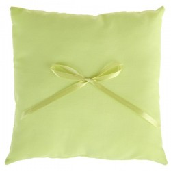 Effen ringkussentje met lintje groen