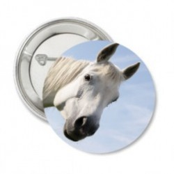 Button 'White horse'