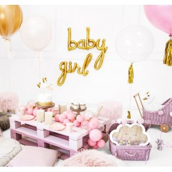 Folie ballon set Baby en Girl in de kleur goud