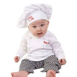 Driedelige baby set Chef Kok