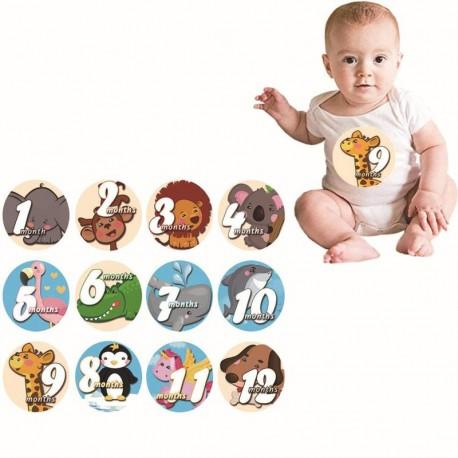 Baby Milestone stickers Animals