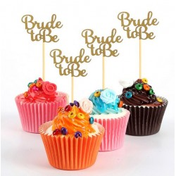Pak met 10 cupcake prikkers Bride to Be