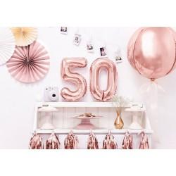 Folie ballonnen set rosé goud 50
