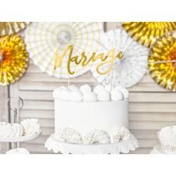 Aantrekkelijk geprijsde bruidstaart topping Mariage goud