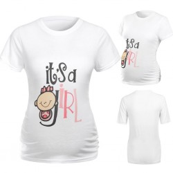 Grappig gender reveal t-shirt It's a Girl