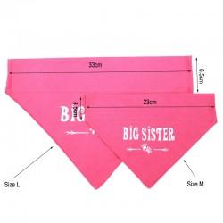 Honden bandana Big Sister roze