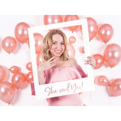 Selfie Foto Frame She Said Yes rosé goud