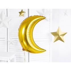 Grote folie ballon in de vorm van een gouden maan