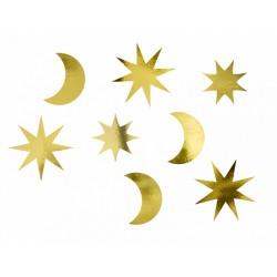 Decoratie set Let's Celebrate gold met sterren en maantjes