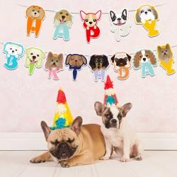 Hele bijzondere honden slinger Happy Birthday