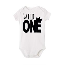 Baby romper Wild One in wit, roze, blauw of grijs