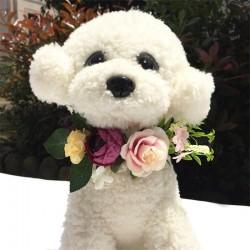 Bloemen band voor honden in grootte verstelbaar multi colour