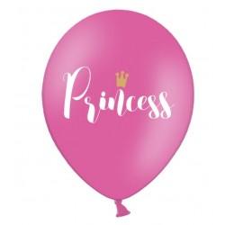 Ballonnen Princess. Roze met witte en gouden opdruk