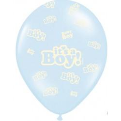 Ballonnen It's a Boy blauw met wit