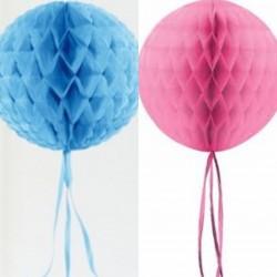 Gender reveal honeycomb set met sliertjes