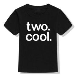 Peuter T-shirt Two Cool zwart met witte opdruk