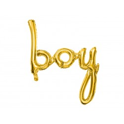 Baby Boy ballon goud folie