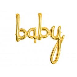 Folie ballon Baby in de kleur goud