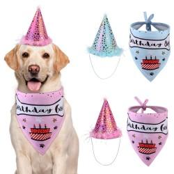 Honden verjaardags set Birthday Boy blauw en Birthday Girl roze