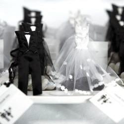 Bruidspaar organza zakjes set