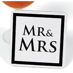 Onderzetter Mr and Mrs