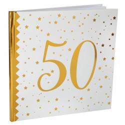 Gastenboek 50 White and Gold