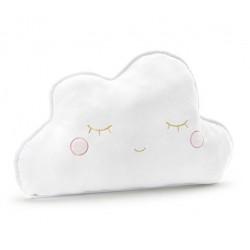ussen Cloud wit pluche met geborduurde gouden en roze accenten