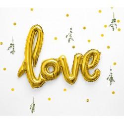 Folie ballon Love XL goud 73 x 59 cm