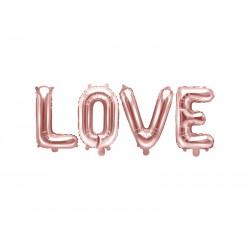 Folie ballonnen set 4-delig Love rosé goud folie