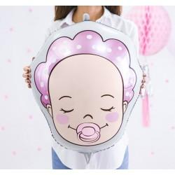 Aandoenlijke baby girl folie ballon
