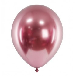 Ballon glossy rosé goud met een doorsnede van 30 cm