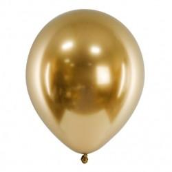 Ballon glossy goud met een doorsnede van 30 cm