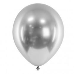 Ballon glossy zilver met een doorsnede van 30 cm