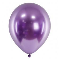 Ballon glossy paars met een doorsnede van 30 cm