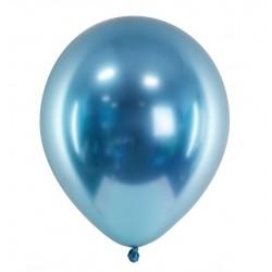 Ballon glossy blauw met een doorsnede van 30 cm