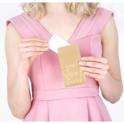 Happy Tears zakdoekjes in kartonnen envelop met goud metallic inscriptie Your Happy Tears