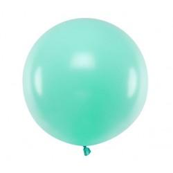 Ronde ballon met een doorsnede van 60 cm pastel licht mintkleurig