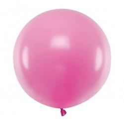 Ronde ballon met een doorsnede van 60 cm pastel fuchsia
