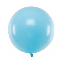Ronde ballon met een doorsnede van 60 cm pastel licht blauw